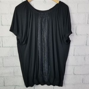 Lane Bryant Dolman Top with Lace Detail